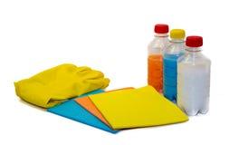 Reinigungstücher lokalisiert auf Weiß Lizenzfreie Stockfotos