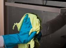 Reinigungstür des Ofens Lizenzfreie Stockbilder