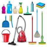Reinigungswerkzeuge stock abbildung