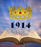 Reino celestial da profecia da Bíblia imagens de stock royalty free