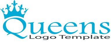 Reino da rainha e imagem do logotipo ilustração do vetor