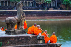 Reino de Angkor Wat Siem Reap cambodia da maravilha Imagens de Stock