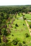 Reino de Angkor Wat Siem Reap cambodia da montagem de Byon Tample Bakheng do tample de doze senhoras da maravilha Imagem de Stock Royalty Free