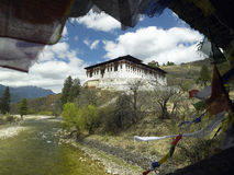 Reino de Bhutan - Paro Dzong - monastério Imagens de Stock