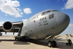 Reino do â janeiro 21 de Barém: C-17 de BOEING imagem de stock royalty free
