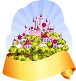 Reino mágico cor-de-rosa ilustração do vetor