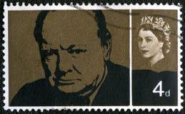 Reino Unido - 1965: sir Winston Spencer Churchill de las demostraciones Foto de archivo libre de regalías