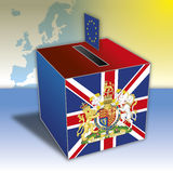 Reino Unido contra el referéndum de Europa ilustración del vector