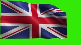 Reino Unido de Gran Bretaña e Irlanda del Norte, bandera de Reino Unido, bandera británica, Union Jack - LAZO ilustración del vector