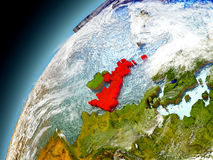 Reino Unido de la órbita de Earth modelo Fotografía de archivo