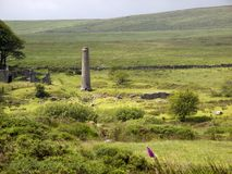Reino Unido, Devon, Dartmoor, moinhos do pó perto de Postbridge foto de stock