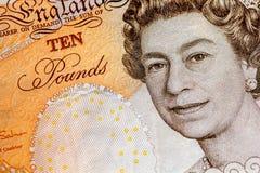 Reino Unido dez notas da libra Foto de Stock Royalty Free