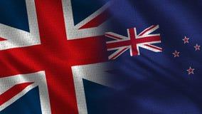 Reino Unido e Nova Zelândia ilustração stock