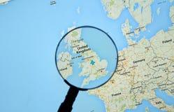 Reino Unido en Google Maps imágenes de archivo libres de regalías