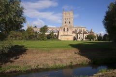 Reino Unido, Gloucestershire, abadía histórica de Tewkesbury Imagenes de archivo