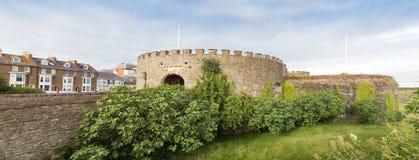 Reino Unido, Inglaterra, castelo do negócio no seacoast em Kent imagens de stock