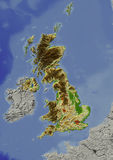 Reino Unido, mapa de relevo Ilustração do Vetor