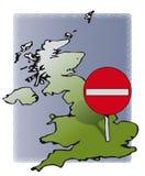 Reino Unido ninguna entrada ilustración del vector