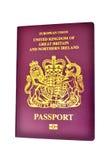 Reino Unido/pasaporte británico Imágenes de archivo libres de regalías