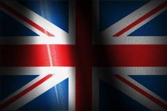 Reino Unido señala imágenes por medio de una bandera Fotografía de archivo libre de regalías