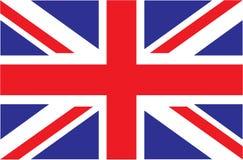 Reino Unido Union Jack Bandeira de Reino Unido Cores oficiais Proporção correta ilustração stock