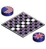 Reino Unido verses Estados Unidos Foto de Stock Royalty Free