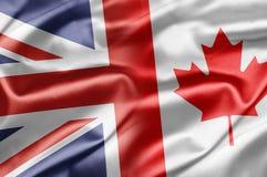 Reino Unido y Canadá Imagen de archivo libre de regalías