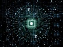 Reino virtual de la CPU ilustración del vector