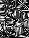 Reinos de líneas internas stock de ilustración