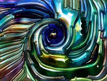 Reinos del vidrio iridiscente stock de ilustración