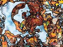 Reinos del vidrio plomado imagen de archivo libre de regalías