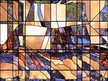 Reinos del vidrio plomado ilustración del vector