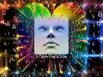 Reinos do ser humano super AI Fotos de Stock Royalty Free