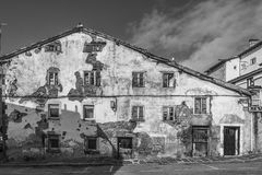 Reinosa, old houses Stock Image