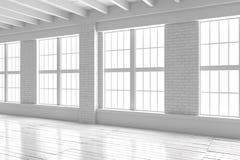 Reinrauminnenraum, Dachbodenmodell des offenen Raumes Lizenzfreies Stockfoto