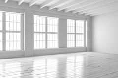 Reinrauminnenraum, Dachbodenmodell des offenen Raumes Stockfoto