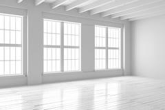 Reinrauminnenraum, Modell des offenen Raumes Stockbilder