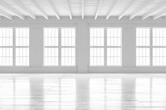 Reinrauminnenraum, Modell des offenen Raumes Stockbild