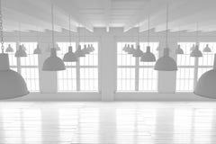 Reinrauminnenraum, Modell des offenen Raumes Lizenzfreies Stockfoto