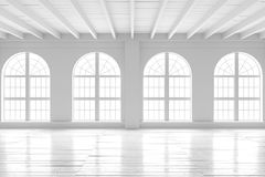Reinrauminnenraum, Modell des offenen Raumes Stockfoto