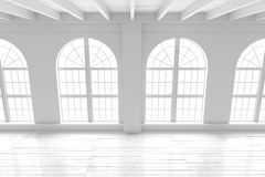 Reinrauminnenraum, Modell des offenen Raumes Lizenzfreies Stockbild