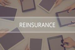 REINSURANCE CONCEPT Business Concept. Business Concept Stock Photos