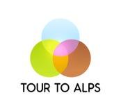Reis aan Alpen vector illustratie