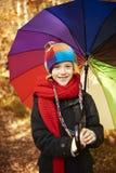 Reis aan bos tijdens de herfst stock fotografie