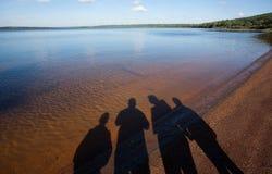 Reis aan het meer stock foto