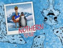 Reis aan het noorden royalty-vrije illustratie