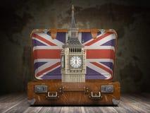 Reis aan Londen Reis of toerisme naar mede Engeland of Groot-Brittannië vector illustratie