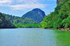 Reis aan mooi tropisch eiland Royalty-vrije Stock Foto's