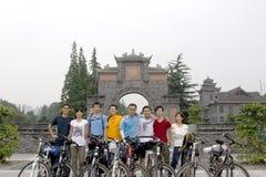Reis aan Tibet door fiets Stock Foto