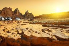 Reis aan woestijn stock foto